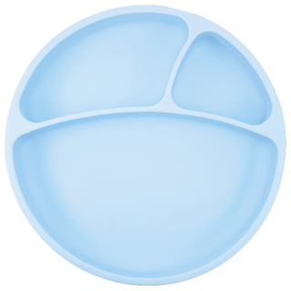 MiniKoioi Assiette en Silicone Bleu
