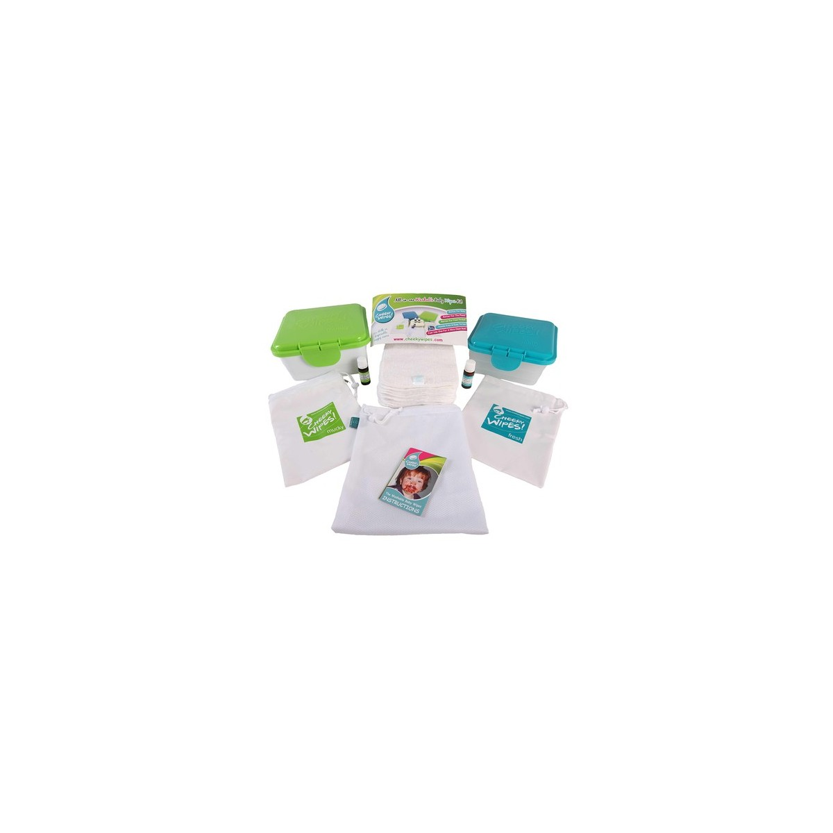 Cheeky Wipes Kit de Lingettes Tout-En-Un