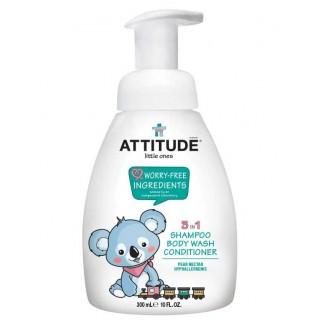 Attitude Little Ones | Shampooing 3 en 1 | Nectar de Poire